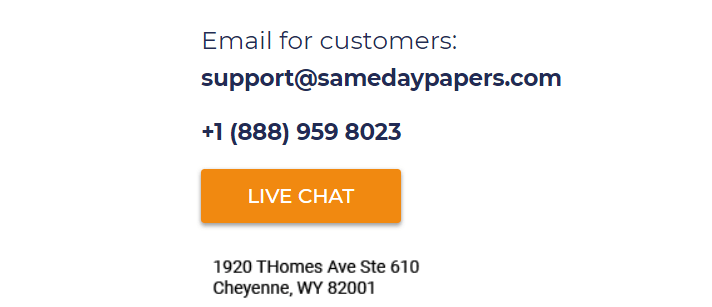 SameDayPapers.com Support